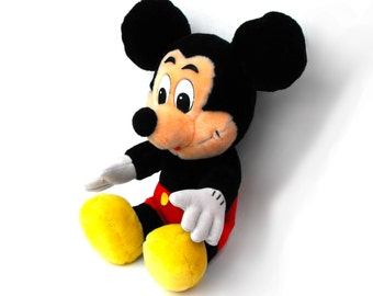 1950s Mickey Mouse Toy Mid Century - Disneyland Walt Disney Children Plush Stuffed Doll - Donald Duck Goofy Minnie Mortimer Mousekeeter