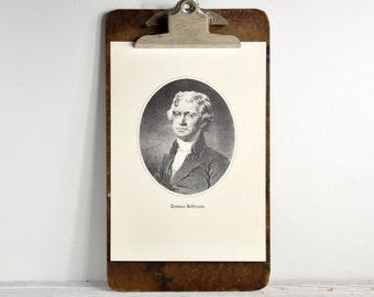 Vintage Presidential Print, Vintage Illustration, US Presidents Wall Decor