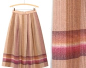 70s Campus Skirt * Vintage 1970s Skirt * Plaid Flared Skirt * Medium