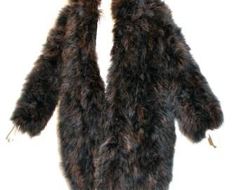SAINT LAURENT Vintage Rive Gauche Marabou Coat Ombre Feather Jacket - AUTHENTIC -