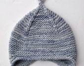 Custom Order Hand Knit Merino Wool Earflap Hat 12 months
