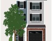 8X8 custom House Portrait