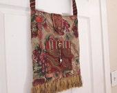 Boho Gypsy Tapestry Fringe Cross Body Bag