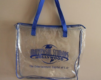 Vintage Clear Universal Studios Hollywood Souvenir Tote - Collectible