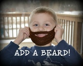 Crochet Beard ONLY (add on item) - 3 months to 10 years - Chocolate Beard - MADE to ORDER