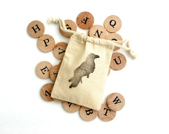 Wooden Alphabet Coins Learning Toy, Educational Waldorf Montessori Game