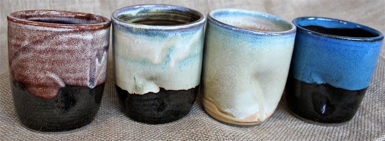 Handleless mug ceramic tumbler handmade 12 oz wheel - Handleless coffee mugs ...