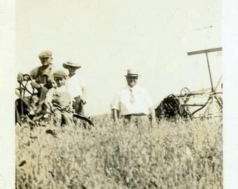 """Vintage Photo """"Farm Point of View"""" Equipment Farmer Snapshot Photo Antique Photo Black & White Photograph Found Photo Paper Ephemera - 46"""