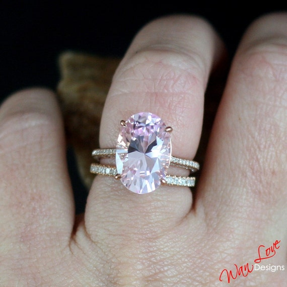 Light pink engagement rings