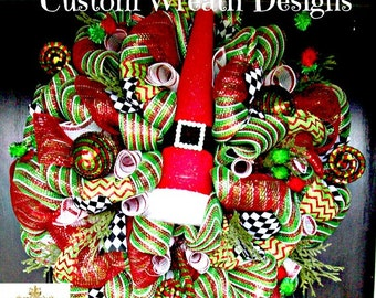 Christmas Luxe Santa Hat Wreath