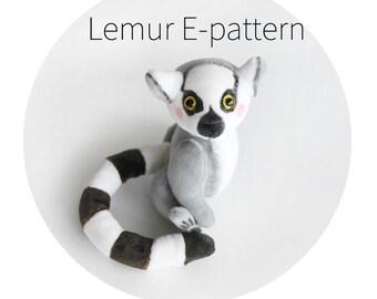Pattern to create lemur - download E- pattern PDF