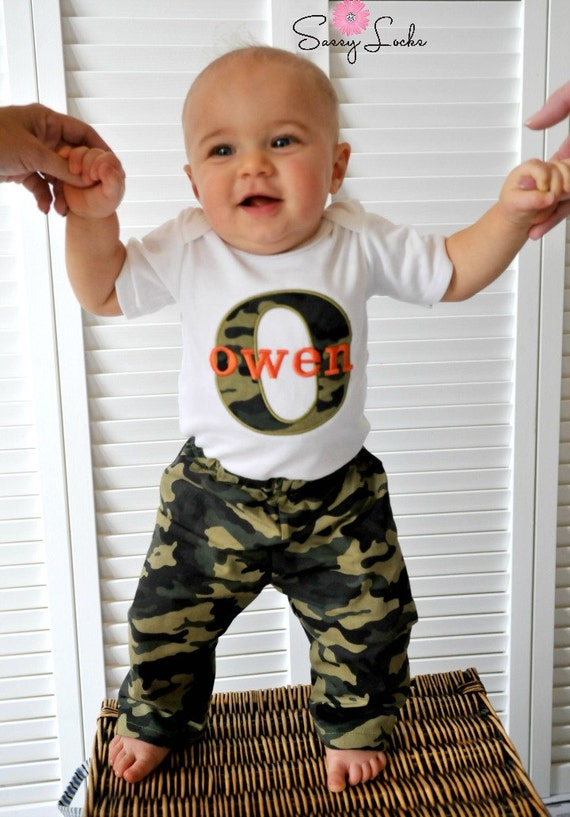 Baby Boy Clothes Personalized Baby Boy Outfit by sassylocks