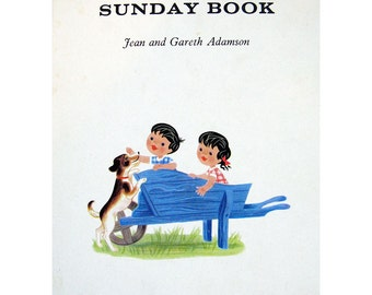 Topsy and Tim's Sunday Book 1960s Mid Century Children's Book by Jean & Gareth Adamson Vintage Illustration First Edition SCARCE