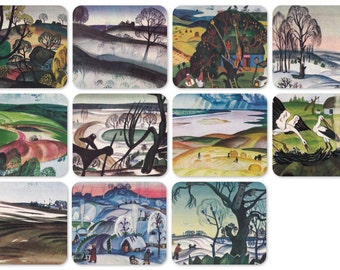 D. Bekarian -- Seasons. Set of 11 Prints, Postcards - 1970, Aurora Art Publishers