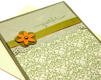 Thank You Card For Friend, So Grateful, With Gratitude, Floral Thank You Card,  Cards For Her, Stampin' Up Cards