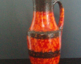 Scheurich Vase - Fat Lava in characteristic colours bright orange, red and brown