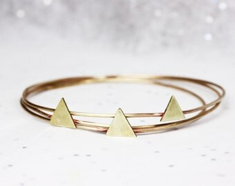 Desert Mountain Range Bangle Set