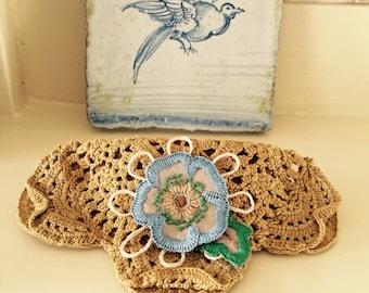 pansy barrette fascinator victorian fashion