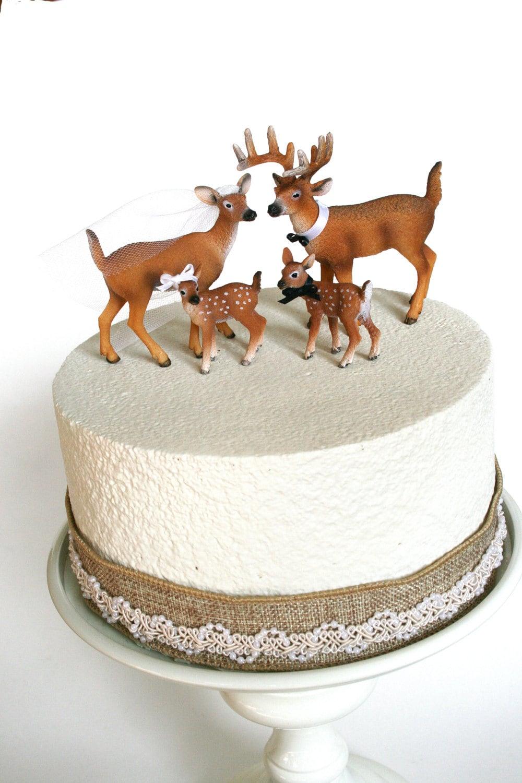 Family Redneck Cake Topper / Deer Cake Topper / Wedding Cake