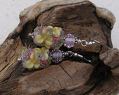 SALE  Garden Flower and Sterling Silver Earrings   551