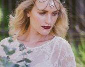 Crystal Brass Boho Wedding / Bridal Headpiece - Teeki