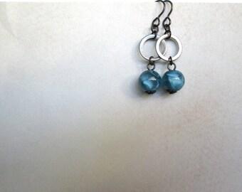Storm Blue Earrings cobalt by Nancelpancel on Etsy