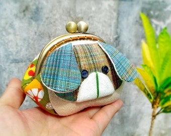 Dog coin purse / Change pouch