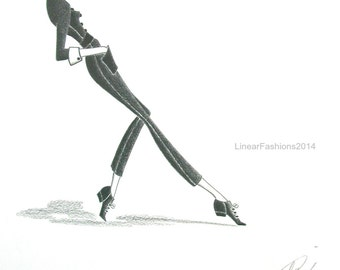 Original fashion illustration - Beatnik
