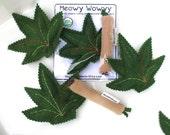 Catnip Marijuana Leaf and Joint Toys Wool Felt