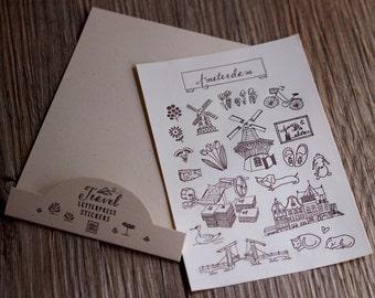 Amsterdam - Letterpress Sticker