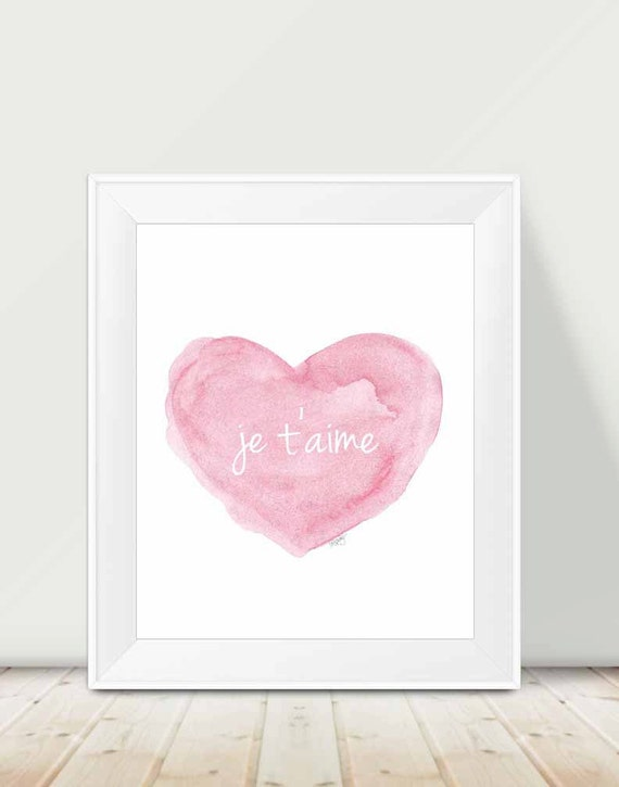 Je t'aime Print for French Nursery, 11x14