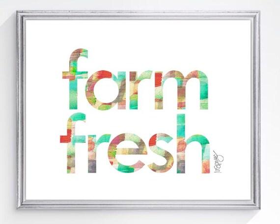 Farmers Market Art, 5x7, 8x10