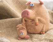 Needle Felted Toy -  Pig - Felt Toys