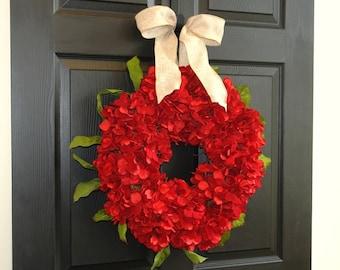 valentine wreath Valentine's Day wreaths for front door wreaths  red decor decorations wreath