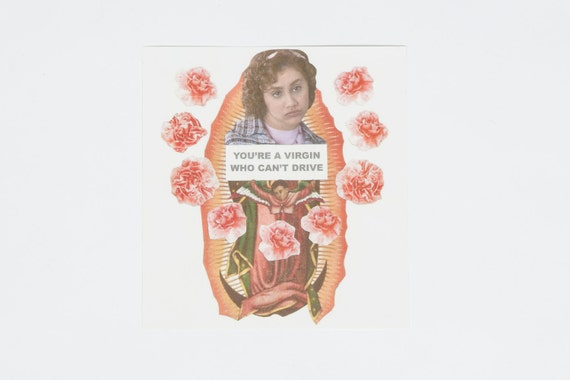 "Clueless ""Virgin Who Can't Drive"" Sticker feat. Brittany Murphy R.I.P."