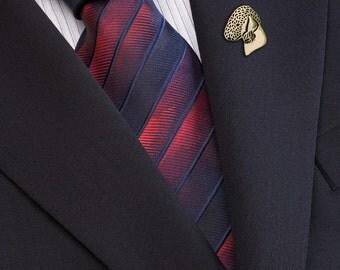 Bedlington Terrier brooch - Gold