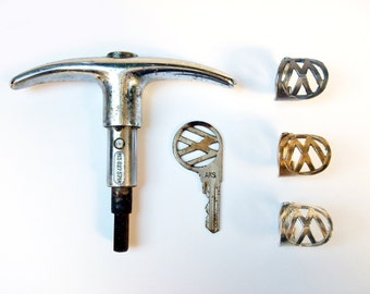 VW - Antique Volkswagen Key Ring - Historic Reproduction (1955 to 1963) in Sterling Silver - Size 7 / 7.5 / 8 - Vintage VW
