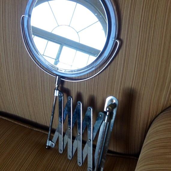 vintage accordion style wall mount make up vanity mirror. Black Bedroom Furniture Sets. Home Design Ideas