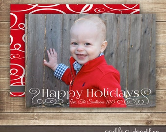Holiday Photo Card, Christmas Photo Card, Happy Holidays, Christmas Cards, Holiday Cards, Printable Digital File or Printed