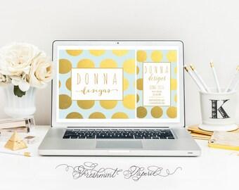 Custom pre-made logo - gold foil logo - calligraphy logo - business logo - business card - freshmint paperie