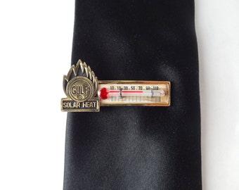 Vintage Gulf Solar Heat Thermometer Tie Clip