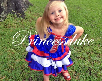 Fourth of July Girls Red White & Blue Princessduke Dress
