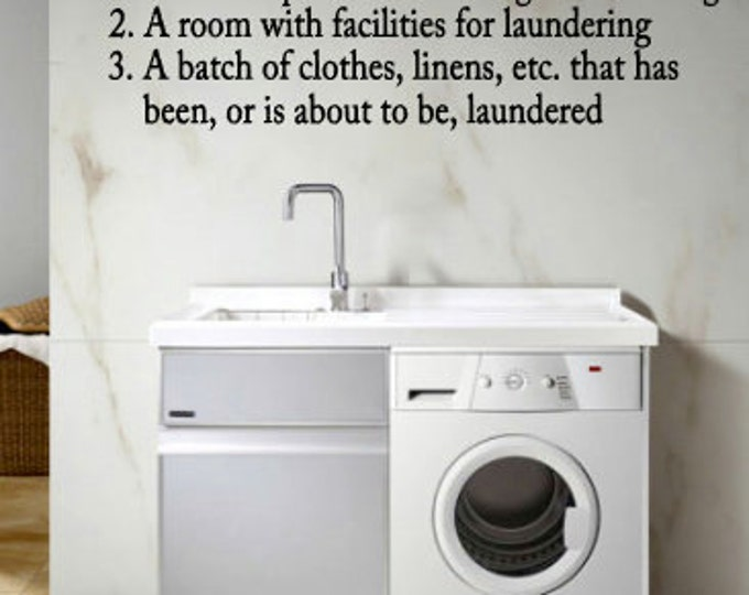 Definition of LAUNDRY - Vinyl Wall Art for the Laundry Room