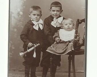 cdv photograph Dandy boys vintage photo trumpet Victorian Paper Ephemera Antique collectibles old Cabinet Portrait Vintage Photo fashion