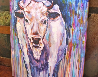 Calling (White Buffalo Calf) - 16'' x 20''