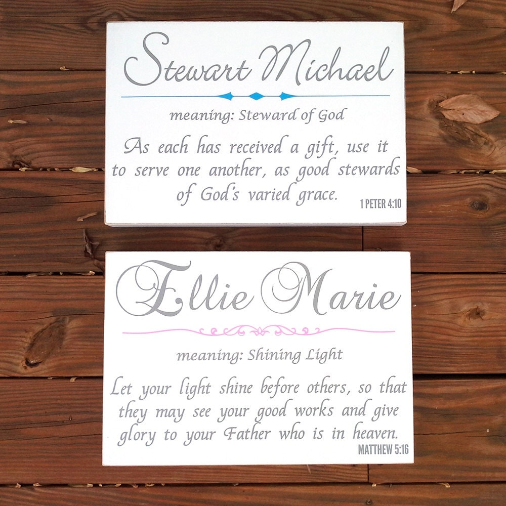 Custom twin baby name board sign plaque name meaning zoom negle Choice Image