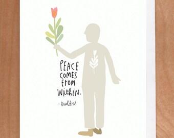 PEACE A2 card (2-22C)