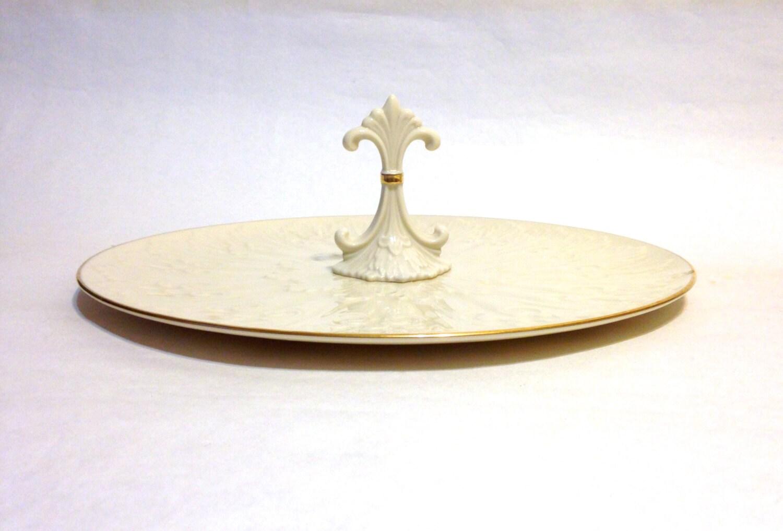 Elegant lenox serving tray with fleur de lis chateau handle - Fleur de lis serving tray ...