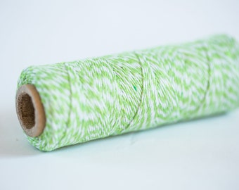 Light Green Bakers Twine 100 Yards | Green String | Light Green Bakers Twine | 4 Ply Cotton Twine | Baker's Twine Green