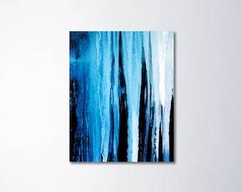 Abstract Canvas Art, Nature Canvas Photography, Icicle Art, Blue Abstract Art, Fine Art Canvas Gallery Wrap, Winter Canvas, Large Wall Art